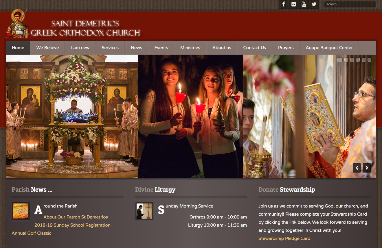 St Demetrios Greek Orthodox Church Website